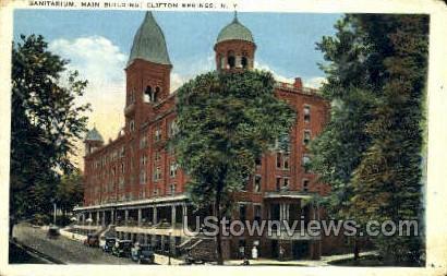 Sanitarium, Main Bldg - Clifton Springs, New York NY Postcard