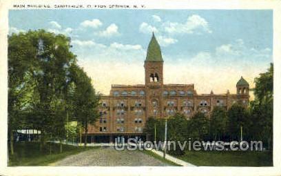 Main Bldg, Sanitarium - Clifton Springs, New York NY Postcard