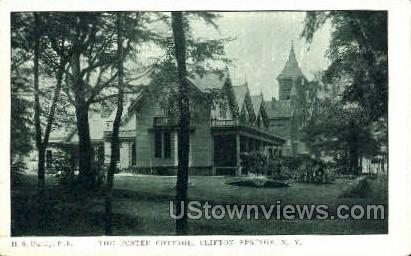 The Poster Cottage - Clifton Springs, New York NY Postcard