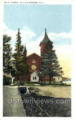 M.E. Church - Clifton Springs, New York NY Postcard