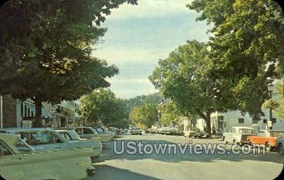 Main Street - Cooperstown, New York NY Postcard