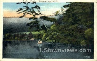 Clinton Marker - Cooperstown, New York NY Postcard
