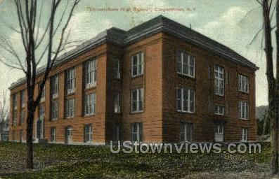 High School - Cooperstown, New York NY Postcard