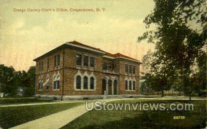 County Clerk's Office - Cooperstown, New York NY Postcard