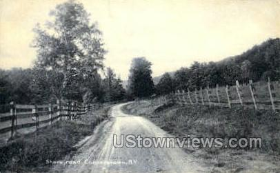 Shore Road - Cooperstown, New York NY Postcard