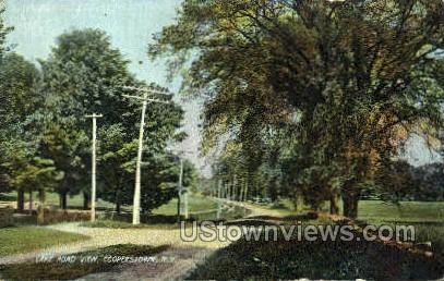 Lake Road - Cooperstown, New York NY Postcard