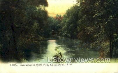 Susquehanna River - Cooperstown, New York NY Postcard