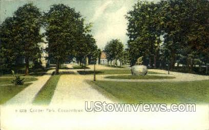 Cooper Park - Cooperstown, New York NY Postcard