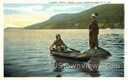 Council Rock - Cooperstown, New York NY Postcard