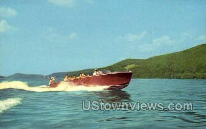 Speed Boat - Cooperstown, New York NY Postcard