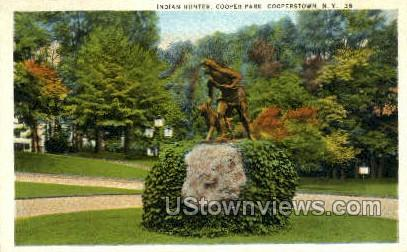 Indian Hunter - Cooperstown, New York NY Postcard