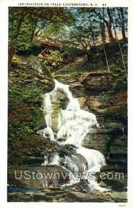 Leatherstocking Falls - Cooperstown, New York NY Postcard
