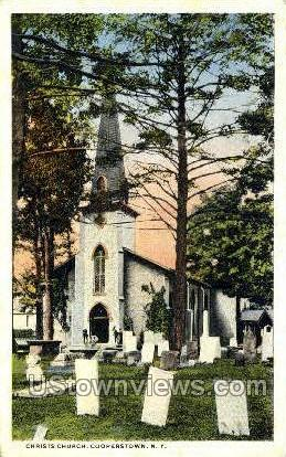 Christ's Church - Cooperstown, New York NY Postcard