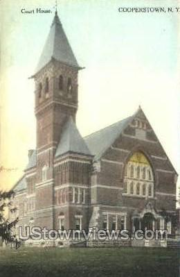 Court House - Cooperstown, New York NY Postcard