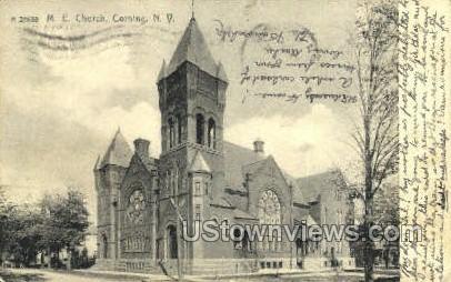 M.E. Church - Corning, New York NY Postcard