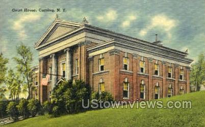 Court House - Corning, New York NY Postcard