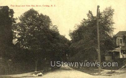 First Street - Corning, New York NY Postcard