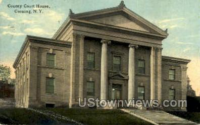 County Court House - Corning, New York NY Postcard