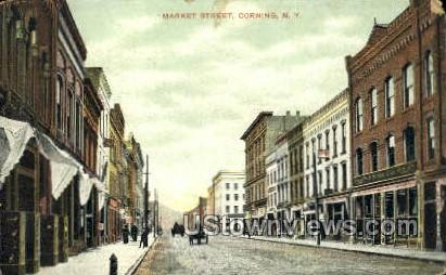 Market Street - Corning, New York NY Postcard