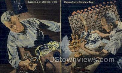Steuben Bowl - Corning, New York NY Postcard