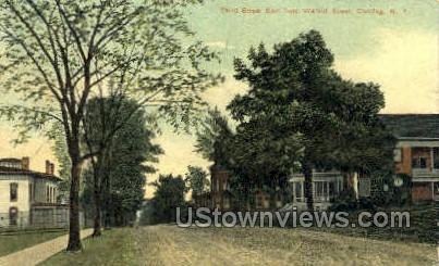 Third Street - Corning, New York NY Postcard