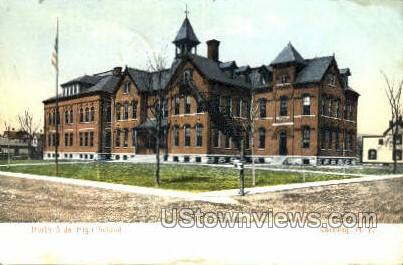 High School - Corning, New York NY Postcard