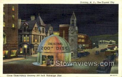 Glass Observatory - Corning, New York NY Postcard