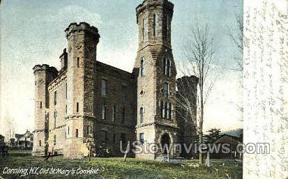 Old St. Mary's Convent - Corning, New York NY Postcard
