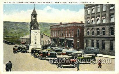 Old Clock Tower - Corning, New York NY Postcard
