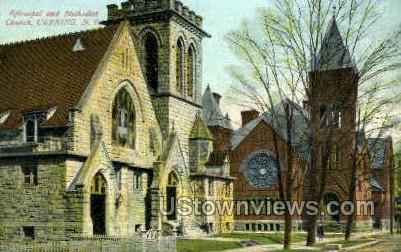 Episcopal Church - Corning, New York NY Postcard