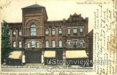 Opera House - Corning, New York NY Postcard