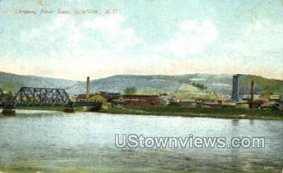 Chemung River - Corning, New York NY Postcard