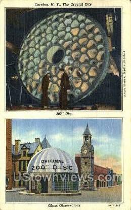 Crystal City - Corning, New York NY Postcard