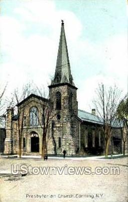 Presbyterian Church - Corning, New York NY Postcard