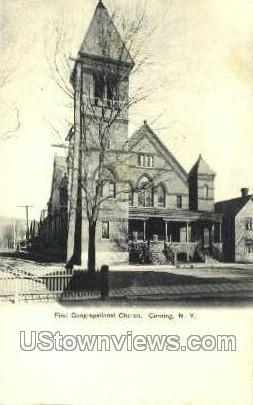 First Congregational Church - Corning, New York NY Postcard