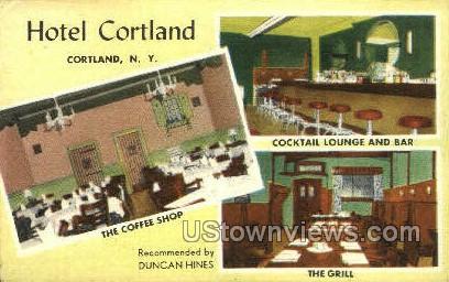 Hotel Cortland - New York NY Postcard