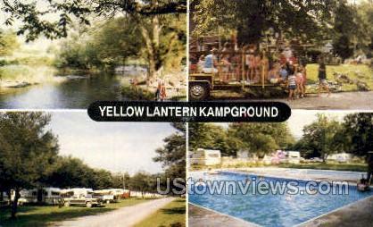 Yellow Lantern Kampground - Cortland, New York NY Postcard