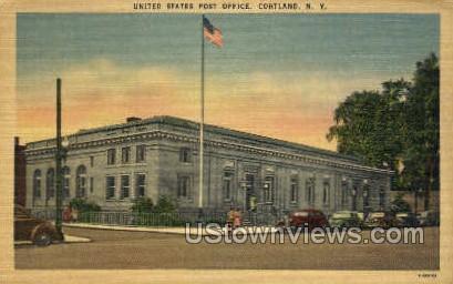 Post Office - Cortland, New York NY Postcard