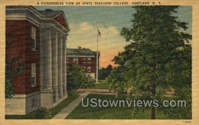 Teachers College - Cortland, New York NY Postcard