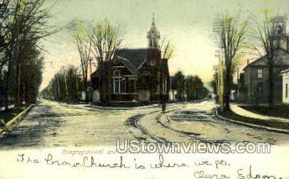 Congregational Church - Cortland, New York NY Postcard