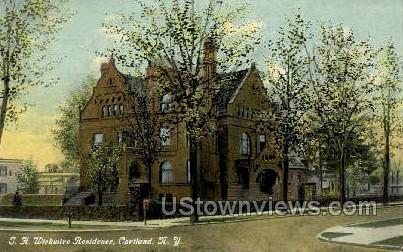 Wickwire Residence - Cortland, New York NY Postcard