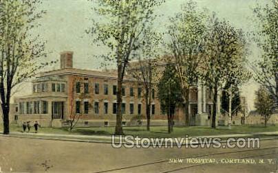 New Hospital - Cortland, New York NY Postcard