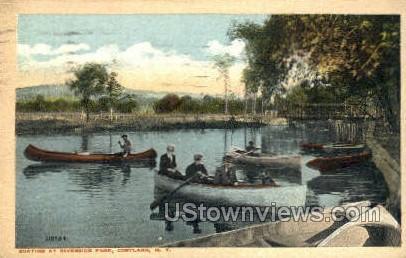 Riverside Park - Cortland, New York NY Postcard
