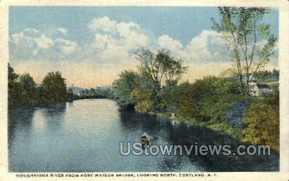 Tioughnioga River - Cortland, New York NY Postcard