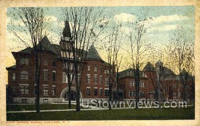 Normal School - Cortland, New York NY Postcard