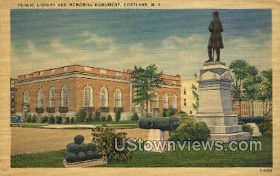 Public Library - Cortland, New York NY Postcard