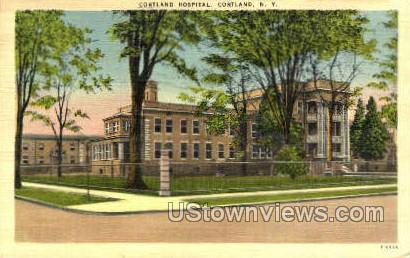 Cortland Hospital - New York NY Postcard