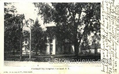 City Hospital - Cortland, New York NY Postcard