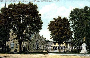 Presbyterian Church - Cortland, New York NY Postcard