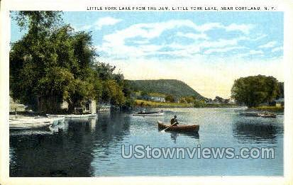Little York - Cortland, New York NY Postcard